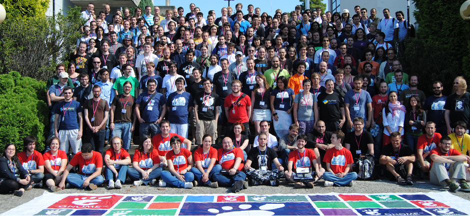 Photo of the GNOME community at GUADEC 2012
